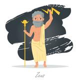Zeus. Greek gods. Vector - 172333847