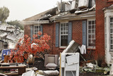 House damaged by disaster - 172348238