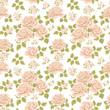 Seamless roses pattern. Vintage floral background. Vector illustration texture