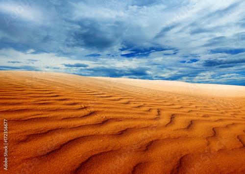 Foto op Canvas Rood traf. sand desert landscape
