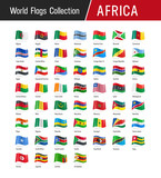 Flags of Africa, waving in the wind - World flags collection