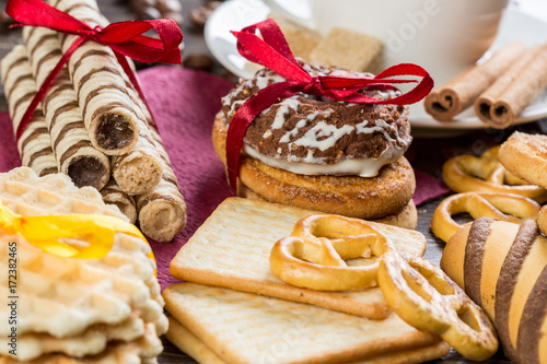 Poster Biscuits on table
