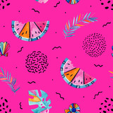 Abstract summer background in memphis style. - 172387476