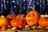 Halloween lanterns and pumkins - 172390468