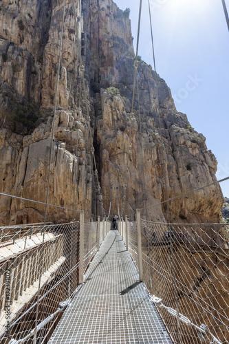 mata magnetyczna Hiking trail El Caminito del Rey, Spain