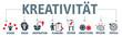 Banner Kreativität mit vektor icons