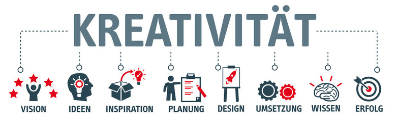 Banner Kreativität mit vektor icons © Trueffelpix