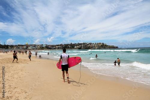 Summer at Bondi Beach in Sydney New South Wales, Australia