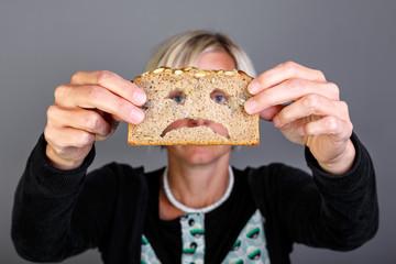 Glutenfreie Ernährung, Frau