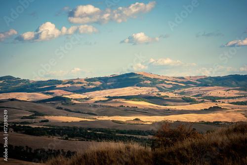 Fotobehang Chocoladebruin Paesaggio della Toscana, Italia, Europa