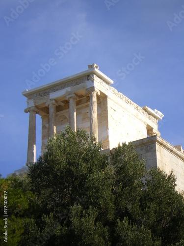 Staande foto Athene Tempio Atena Nike