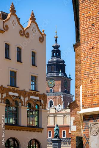 Poster Krakau Bazylika Mariacka in Krakow