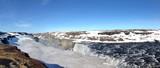 Dettifoss waterfall panorama in Iceland