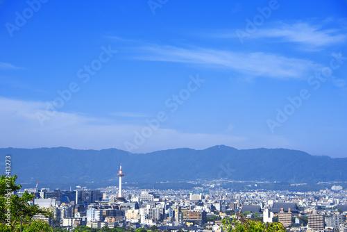 Deurstickers Kyoto 京都 都市風景