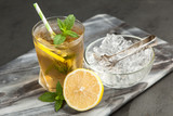 Ice tea with lemon and mint - 172414049