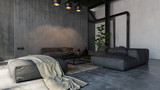 Spacious living room in loft style - 172414066