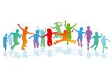 Kinder sind fröhlich und vergnügt - 172414253