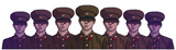 Illustration of north korean soldiers wearing uniform in color - 172424466