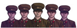 Illustration of north korean soldiers wearing uniform in color - 172424473