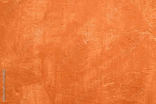 Poster Betonbehang orange texture concrete wall