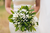Wedding bouquet held by the bride - 172436250