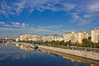 Embankments of the city of Moscow.