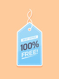 Price tag with 100% free text vector illustration - 172459853