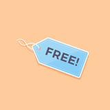 Label price tag with FREE text vector illustration - 172460050