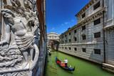 Italy. Venice. The Bridge of Sighs (Ponte dei Sospiri) and the New Prison (Prigioni Nuove).  Venice and its Lagoon is on UNESCO World Heritage List