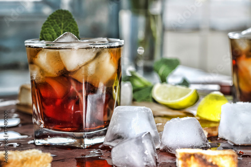 Rum refreshment alcoholic drink Poster