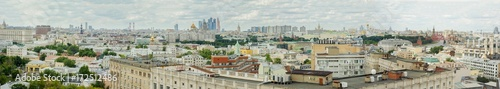 Foto op Plexiglas Panoramafoto s Panorama of Moscow summer view from above