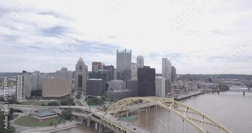 mata magnetyczna Pittsburgh skyline and the Fort Pitt brigde
