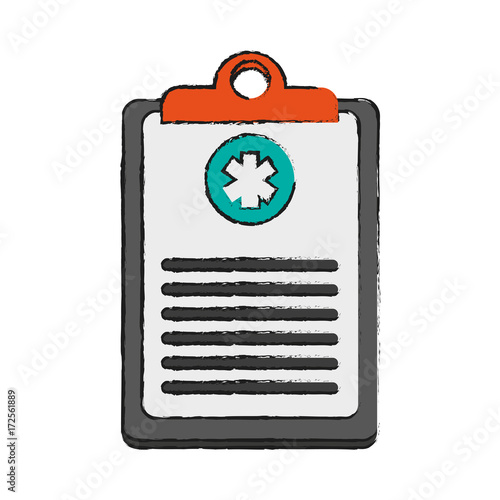 medical history healthcare icon image vector illustration design
