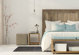 Bedroom in a minimalist style - 172579483