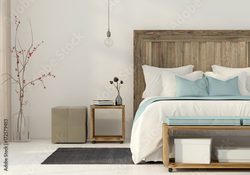 Bedroom in a minimalist style   Buy Photos   AP Images   DetailView