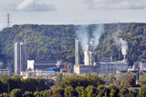Rouen Le Grand Quevilly. Zone industrielle.Pollution - 172611801