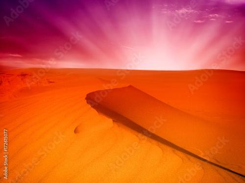 Poster Baksteen sand desert landscape