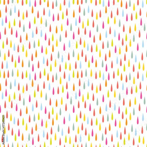 Fototapeta Colorful raindrop pattern design