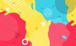 Colorful cartoon color splash background childish playground vector abstract geometric kid design