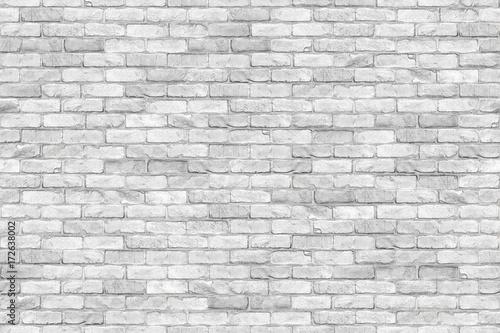 Foto op Plexiglas Baksteen muur Seamless white brickwall brick stone wall texture background / Ziegelmauer Backsteinmauer weiß stein ziegelsteine verblender Hintergrund nahtlos