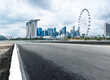 empty asphalt road with cityscape of modern city - 172643026