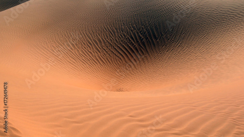 Poster Cappuccino Dune di sabbia nel deserto Sahara tunisino