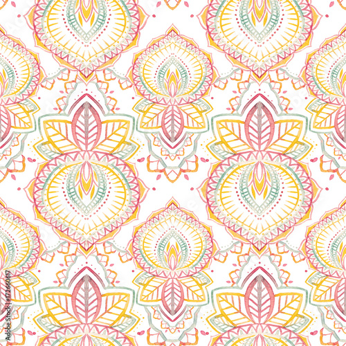 Watercolor native indian pattern - 172660617