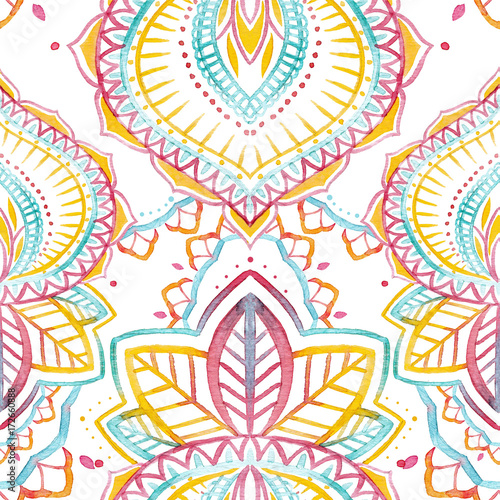 Watercolor native indian pattern - 172660888