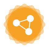 App Icon gelb - Netzwerk - 172663894