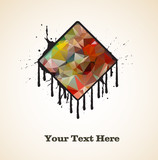 Abstract Dripping Paint Banner - 172678278
