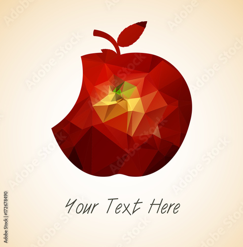 Eat Apple Vector - 172678490