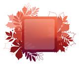 Autumn leaf poster. Red leaves of maple, chestnut, rowan. - 172678885