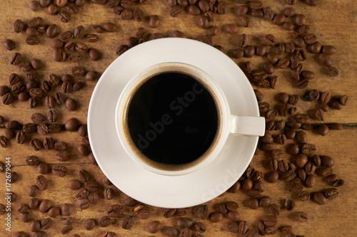 Papiers peints Café en grains Coffee cup and coffee beans