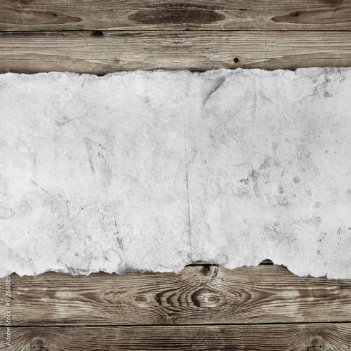 Old paper on the wood background - 172680898